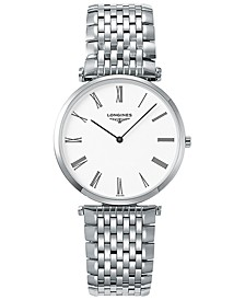 Men's Swiss La Grande Classique De Longines Stainless Steel Bracelet Watch 36mm L47554116