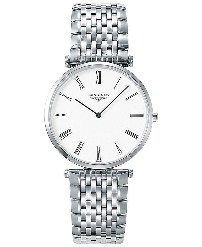 Longines - Men's Swiss La Grande Classique De  Stainless Steel Bracelet Watch 36mm L47554116