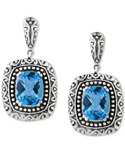 BALISSIMA by EFFY Blue Topaz (5 ct. t.w.) Drop Earrings in Sterling Silver