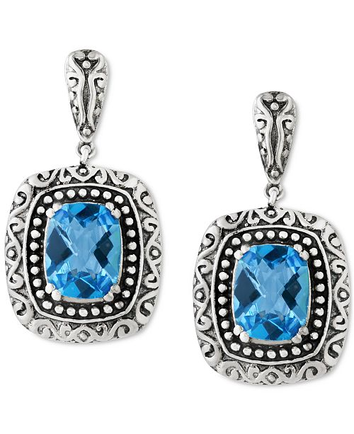 EFFY Collection BALISSIMA  by EFFY Blue Topaz (5 ct. t.w.) Drop Earrings in Sterling Silver