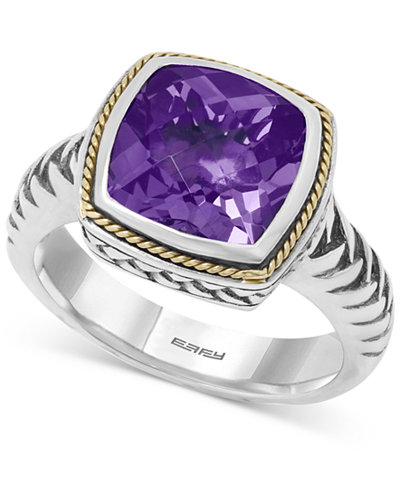 BALISSIMA by EFFY Amethyst Ring (4 ct. t.w.) in 18k Gold and Sterling Silver