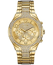 Women's Crystal Accent Gold-Tone Stainless Steel Bracelet Watch 44mm U0628L2