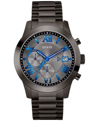 Image of GUESS Men's Gunmetal Stainless Steel Bracelet Watch 45mm U0668G2