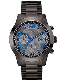 GUESS Men's Gunmetal Stainless Steel Bracelet Watch 45mm U0668G2