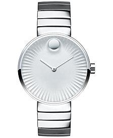 Movado Women's Swiss Edge Stainless Steel Bracelet Watch 34mm 3680012
