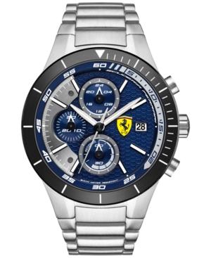 Scuderia Ferrari Men's Chronograph RedRev Evo Stainless Steel Bracelet Watch 46mm 0830270