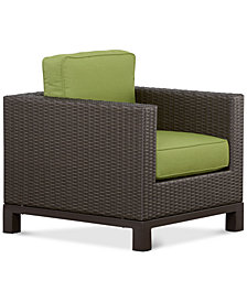 CLOSEOUT! Katalina Wicker Outdoor Club Chair, with Sunbrella® Cushions, Created for Macy's