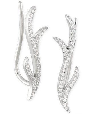 Macy's Diamond Ear Crawlers (1/6 ct. t.w.) in 14k White