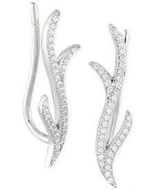 Diamond Ear Crawlers (1/6 ct. t.w.) in 14k White Gold