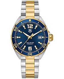 TAG Heuer Men's Swiss Formula 1 Two-Tone Stainless Steel Bracelet Watch 41mm WAZ1120.BB0879