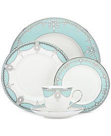 Marchesa by Lenox Empire Pearl Turquoise Bone China 5-Pc. Place Setting