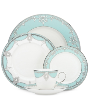 Marchesa by Lenox Empire Pearl Turquoise Bone China 5-Pc. Pl