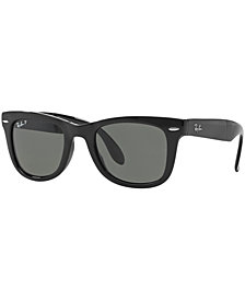 Ray-Ban Polarized Sunglasses, RB4105 54 Folding Wayfarer