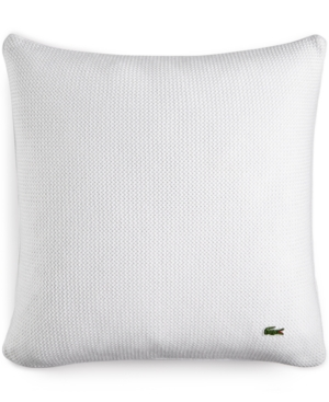 "Image of Lacoste Home Caique 18"" Square Decorative Pillow, Created for Macy's Bedding"