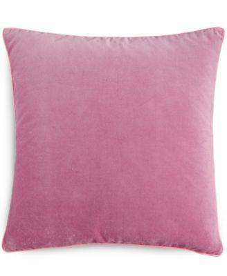 "CLOSEOUT! Heather Velvet 16"" Square Decorative Pillow"