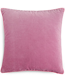 "CLOSEOUT! bluebellgray Heather Velvet 16"" Square Decorative Pillow"