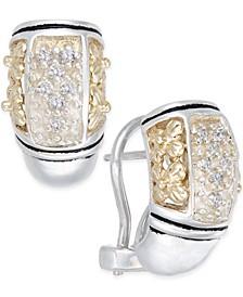 Diamond Drop Earrings (1/5 ct. t.w.) in Sterling Silver and 14k Gold
