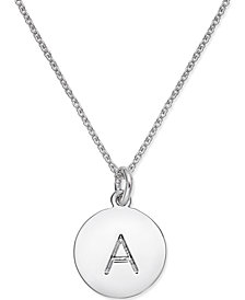 Initial necklace silver shop for and buy initial necklace silver kate spade new york silver tone disc initials 18 pendant necklace aloadofball Gallery