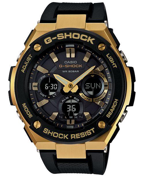 2c4d7ff99 G-Shock Men s Analog-Digital Black and Gold Black Silicone Strap ...