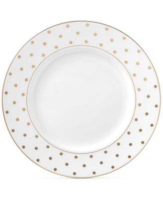 kate spade new york larabee road gold bone china dinner plate