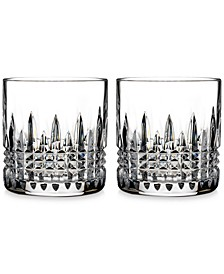Crystal Lismore Diamond Straight-Sided Tumblers, Set of 2
