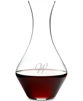 O Monogram Collection Script Letter Cabernet Magnum Decanter