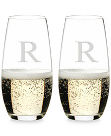 Riedel O Monogram Collection 2-Pc. Block Letter Stemless Champagne Glasses