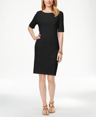 Karen Scott Boat-Neck Short-Sleeve Dress, Only at Macy's