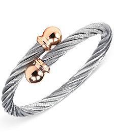 CHARRIOL Unisex Celtic Two-Tone Cable Bangle Bracelet