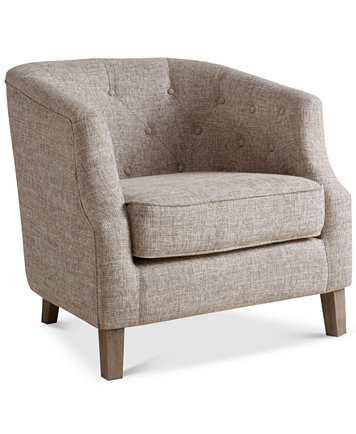 Penelope Fabric Accent Chair Quick Ship Furniture Macy S