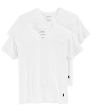 Polo Ralph Lauren 2-Pk. V-Neck Undershirts, Big Boys