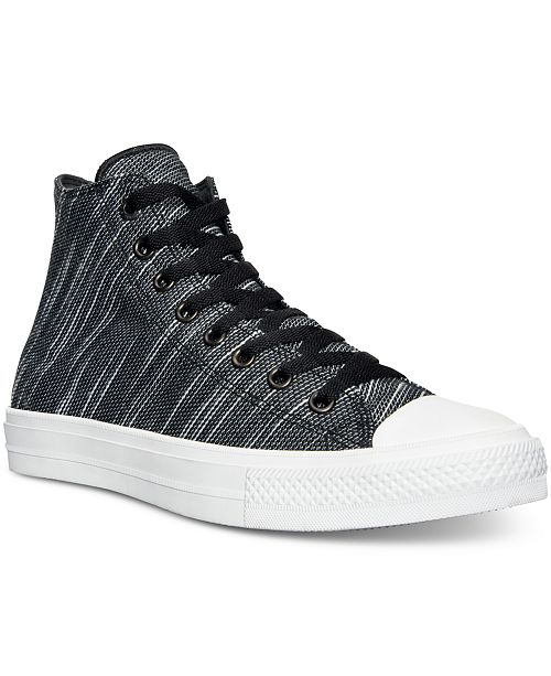 fbcac434bcc17e ... Converse Men s Chuck Taylor All Star II Hi Knit Canvas Casual Sneakers  from Finish ...