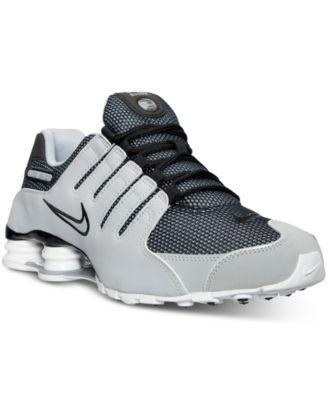 Nike Mens Shox Nz Zapatillas De Deporte De Moda Gris / Negro De Tela Lluvia coste de envío aclaramiento más reciente envío libre asequible salida comercializable Ti2gD6ZJD