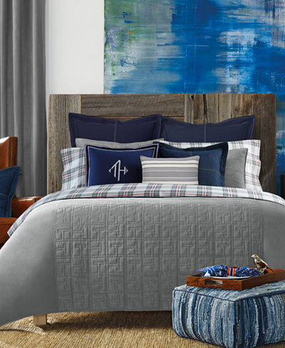 Tommy Hilfiger Academy Gray Full Queen Comforter Bedding