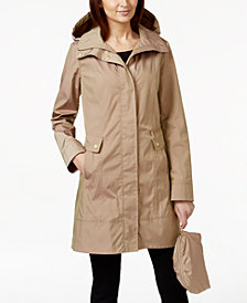 Cole Haan Signature Petite Packable Raincoat