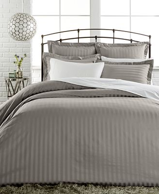 closeout! charter club damask stripe 500 thread count pima cotton