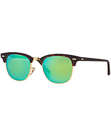 Ray-Ban CLUBMASTER MIRRORED Sunglasses, RB3016