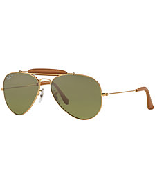 Ray-Ban Polarized Aviator Craft Sunglasses, RB3422Q