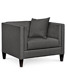 """Braylei 43"""" Fabric Armchair, Created for Macy's"""