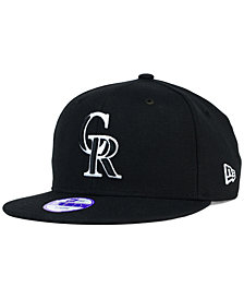 New Era Kids' Colorado Rockies Black White 9FIFTY Snapback Cap