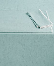 "French Perle 60"" x 84"" Ice Blue Tablecloth"