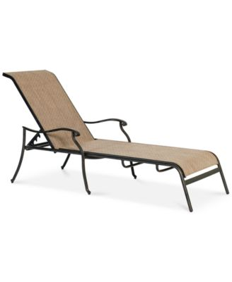 Beachmont II Outdoor Sling Chaise Lounge Created for Macyu0027s  sc 1 st  Macyu0027s : aluminum sling chaise lounge - Sectionals, Sofas & Couches
