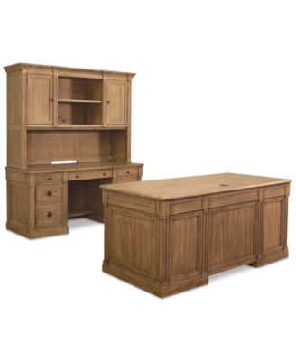 Sherborne Home Office Furniture, 3 Pc. Set (Executive Desk, Credenza Desk U0026  Hutch)