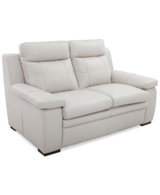 Zane 88 Quot Leather Sofa Furniture Macy S