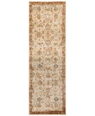 "Andreas   AF-04 Antique Ivory/Rust 2'7"" x 8' Runner Rug"