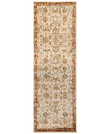 "Macy's Fine Rug Gallery Andreas   AF-04 Antique Ivory/Rust 2'7"" x 10' Runner Rug"