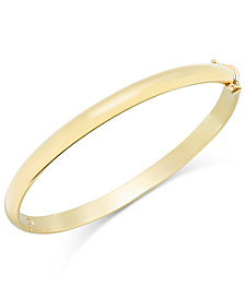 Solid Gold Polished Bangle Bracelet in 14k Gold