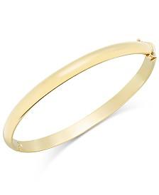 Solid Gold Polished Bangle Bracelet in 14k Gold