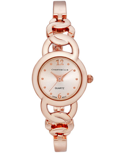 Charter Club Women's Rose Gold-Tone Stainless Steel Bracelet Watch 22mm, Only at Macy's