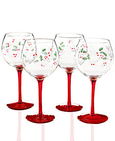 Pfaltzgraff Set of 4 Winterberry Wine Glasses